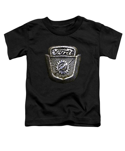 Toddler T-Shirt featuring the photograph Ford Emblem by Debra and Dave Vanderlaan