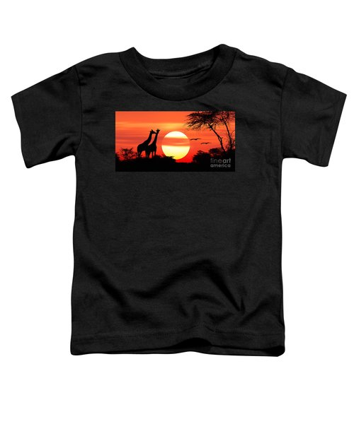 Giraffes At Sunset Toddler T-Shirt