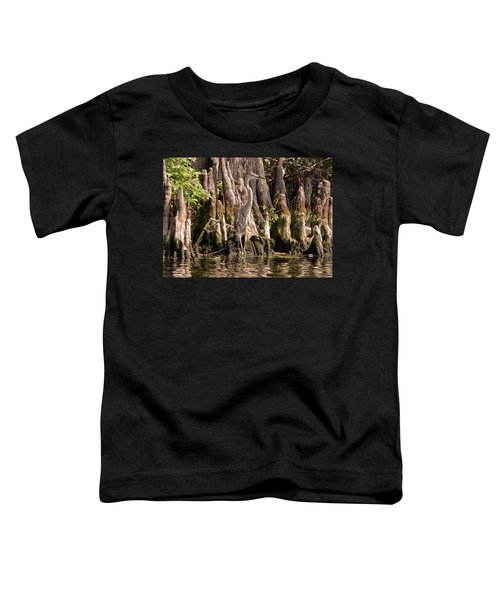 Heron And Cypress Knees Toddler T-Shirt