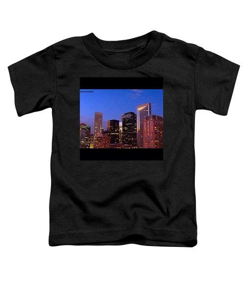 #houston #skyline At Dusk. #night Toddler T-Shirt