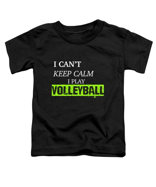 I Play Volleyball Toddler T-Shirt by Meli Mel