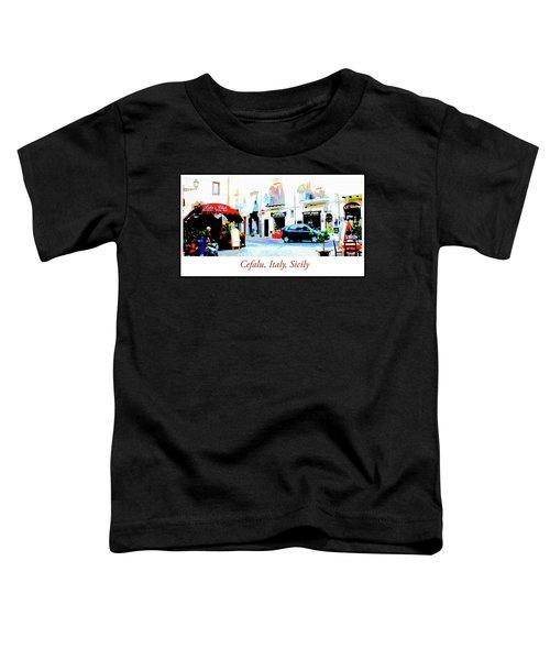Italian City Street Scene Digital Art Toddler T-Shirt