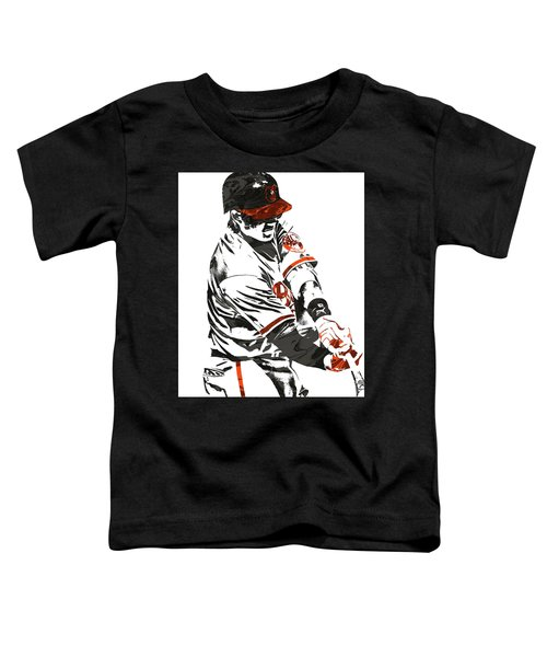 Manny Machado Baltimore Orioles Pixel Art Toddler T-Shirt