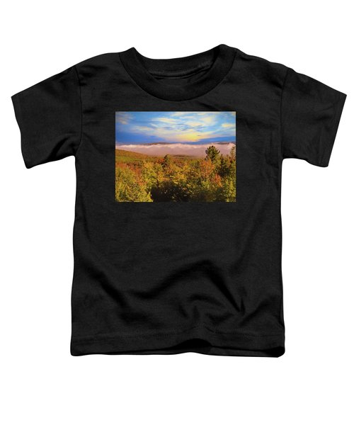 Morning Autumn Landscape Northern New Hampshire Toddler T-Shirt