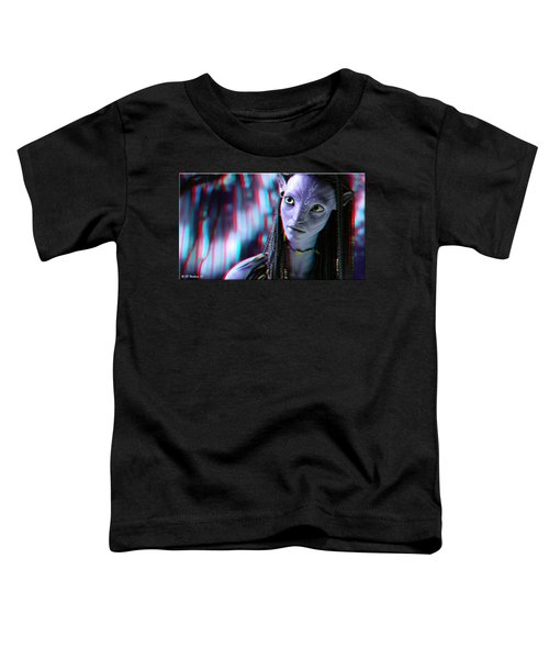 Neytiri - Use Red And Cyan 3d Glasses Toddler T-Shirt