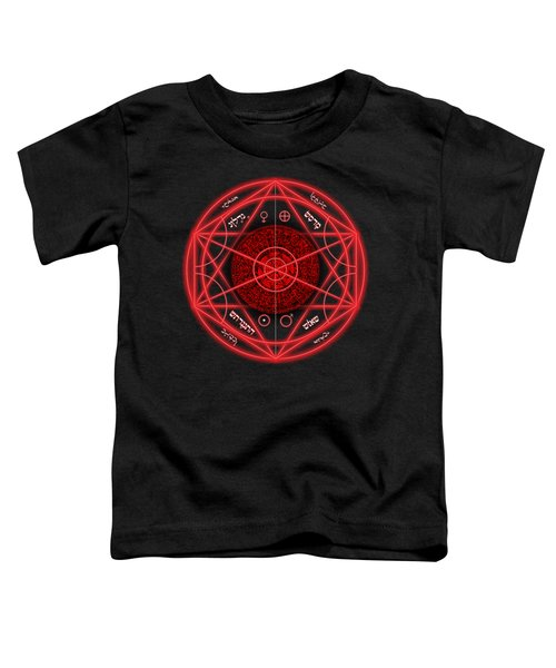 Occult Magick Symbol On Red By Pierre Blanchard Toddler T-Shirt by Pierre Blanchard