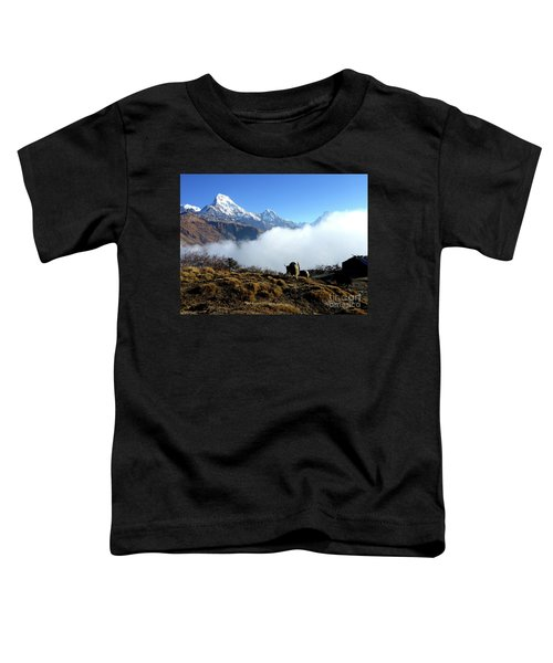 Panoramic View Of Everest Mountain Toddler T-Shirt