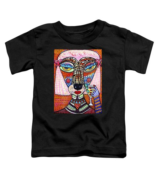 Pink Poodle Drinking A Martini Toddler T-Shirt