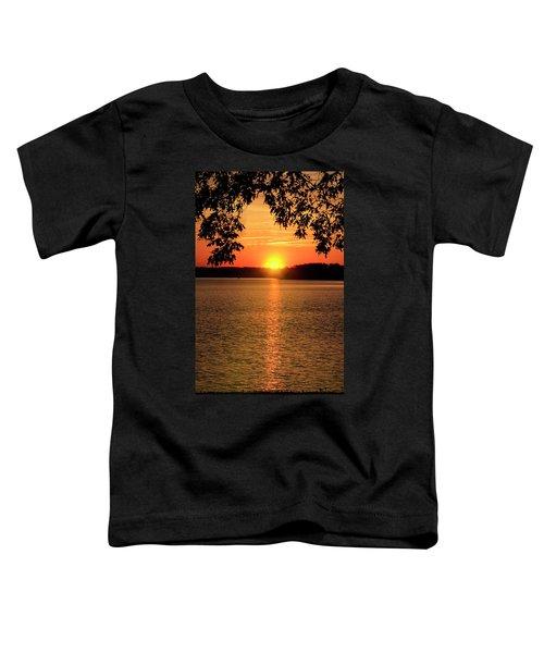 Smith Mountain Lake Silhouette Sunset Toddler T-Shirt
