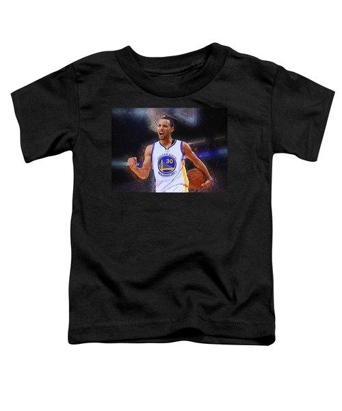 Stephen Curry Toddler T-Shirt by Semih Yurdabak