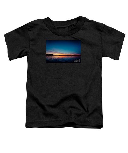 Sunrise Above Lake Water Summer Time Latvia Ezera Skanas Toddler T-Shirt