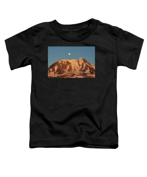 Sunset And Moonrise At Mt Adams Toddler T-Shirt
