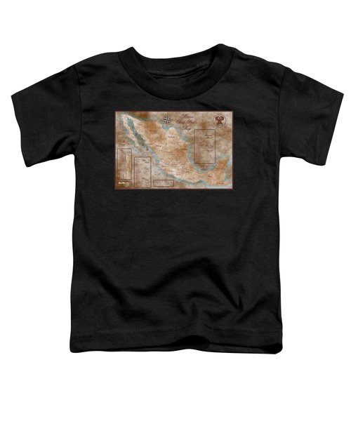 Mexico Surf Map  Toddler T-Shirt by Lucan Hirales
