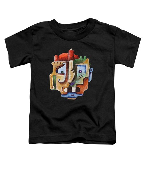 Toddler T-Shirt featuring the painting Surrealism Head by Sotuland Art