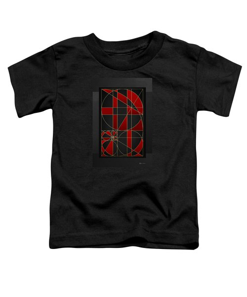 The Alchemy - Divine Proportions - Red On Black Toddler T-Shirt