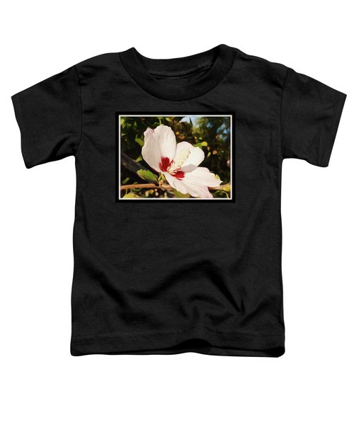 The Art Of A Hibiscus Flower Toddler T-Shirt