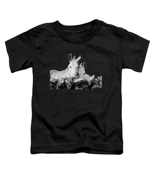 Two White Irish Donkeys Toddler T-Shirt by RicardMN Photography