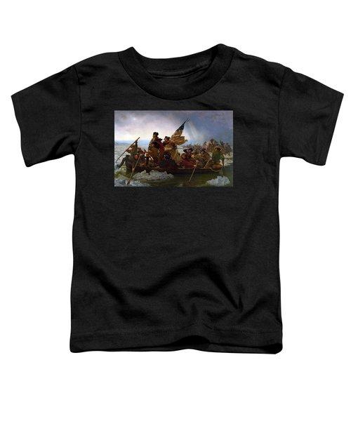 Washington Crossing The Delaware Toddler T-Shirt by Emanuel Leutze