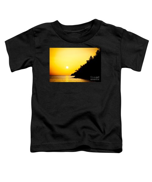 Yellow Sunrise Seascape And Sun Artmif Toddler T-Shirt