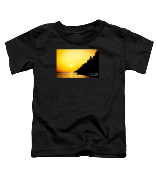 Yellow Sunrise Seascape And Sun Artmif Toddler T-Shirt