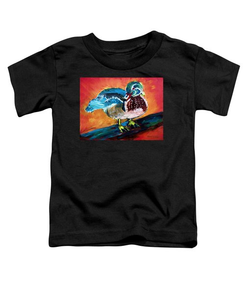 122215 Male Wood Duck Toddler T-Shirt