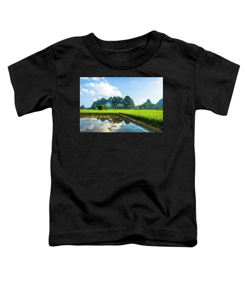 The Beautiful Karst Rural Scenery Toddler T-Shirt