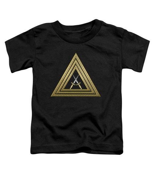 15th Degree Mason - Knight Of The East Masonic Jewel  Toddler T-Shirt by Serge Averbukh