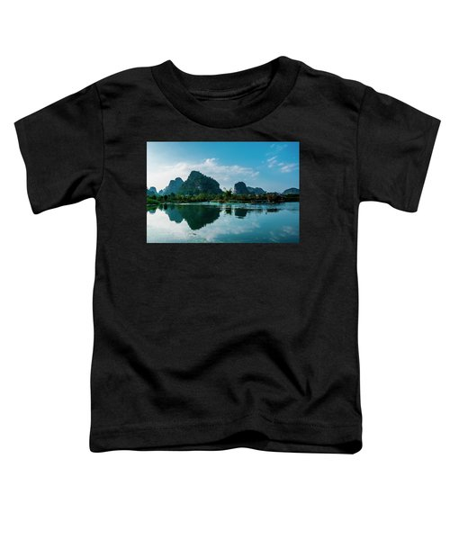 The Karst Mountains And River Scenery Toddler T-Shirt