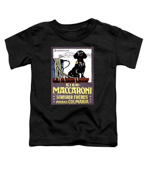 1910 Dachshund And Macaroni Poster    Toddler T-Shirt