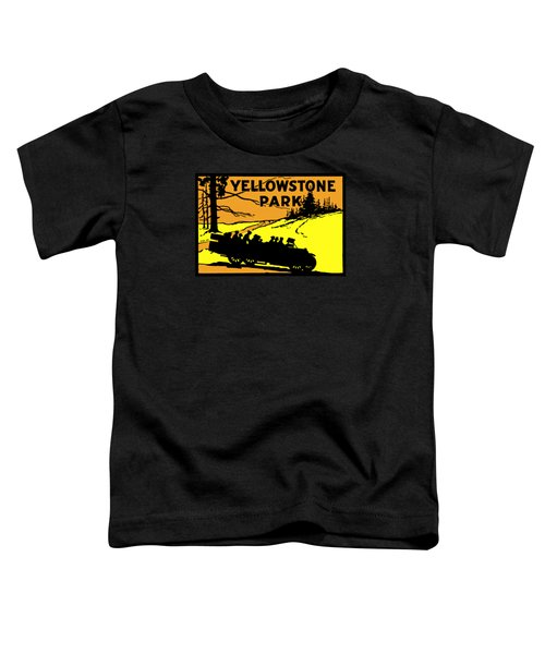 1920 Yellowstone Park Toddler T-Shirt by Historic Image