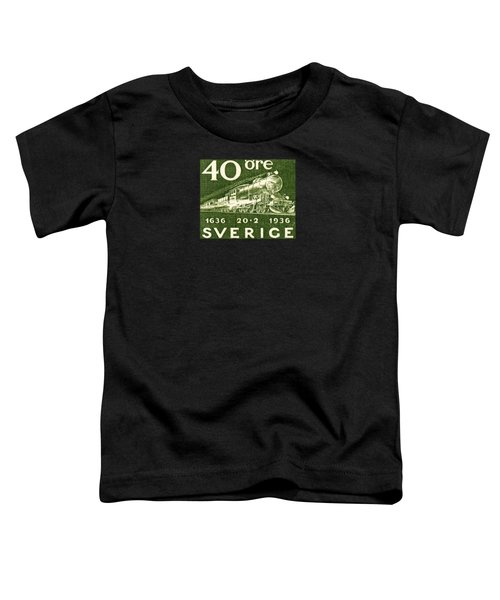 1936 Swedish Railroad Stamp Toddler T-Shirt by Historic Image