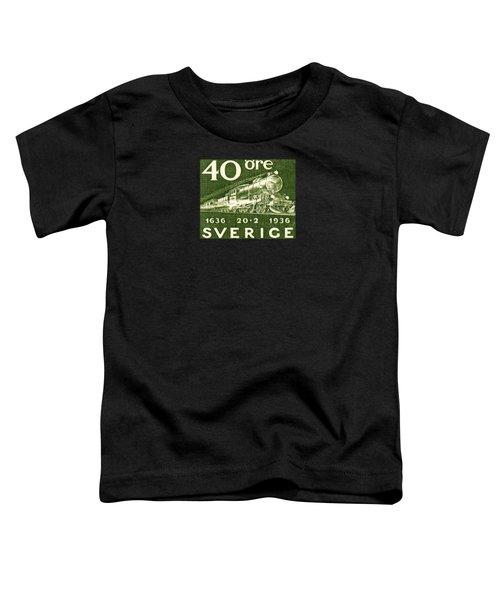 1936 Swedish Railroad Stamp Toddler T-Shirt