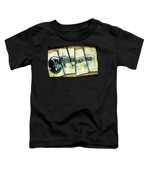 1955 Les Paul Custom Black Beauty V2 Toddler T-Shirt by Gary Bodnar