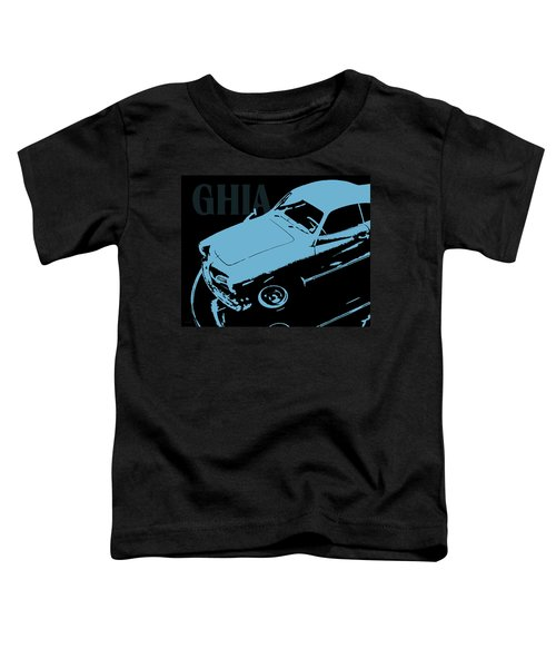 1962 Karmann Ghia Pop Art Blue Toddler T-Shirt