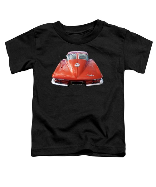 1963 Corvette Stingray Split Window Rear Toddler T-Shirt
