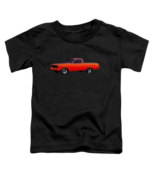 1965 Ford Falcon Ranchero Day At The Beach Toddler T-Shirt by Chas Sinklier