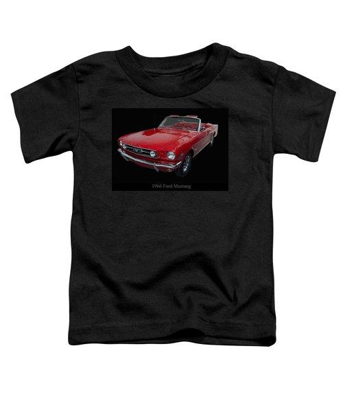 1966 Ford Mustang Convertible Toddler T-Shirt