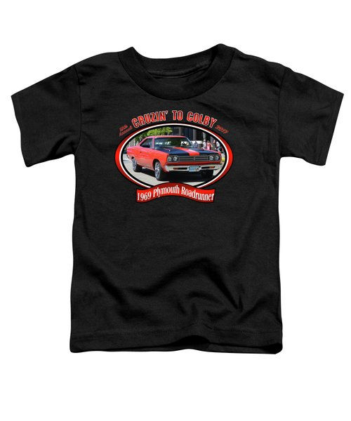 1969 Plymouth Roadrunner Masanda Toddler T-Shirt by Mobile Event Photo Car Show Photography