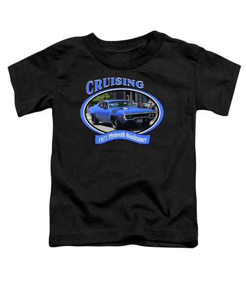 1971 Plymouth Roadrunner Hedman Toddler T-Shirt by Mobile Event Photo Car Show Photography