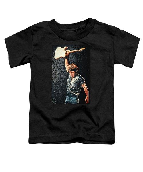Bruce Springsteen Toddler T-Shirt by Taylan Apukovska