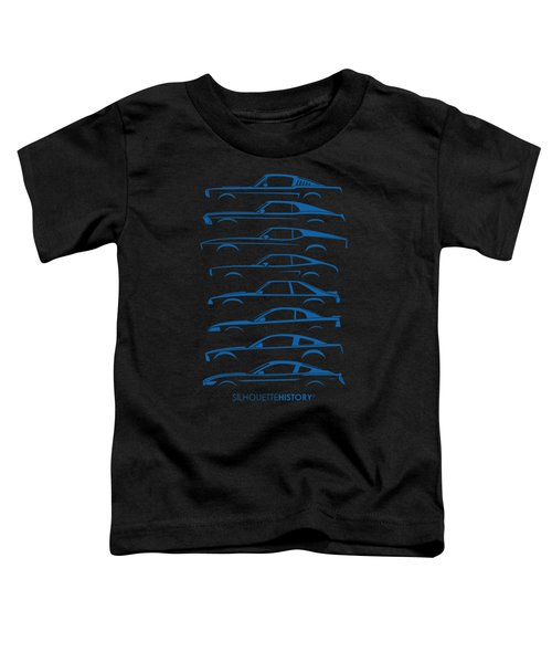 American Stallion Silhouettehistory Blue Toddler T-Shirt