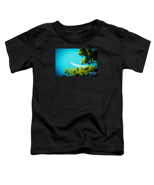 Pine Forest Over Sea Seascape Artmif.lv Toddler T-Shirt