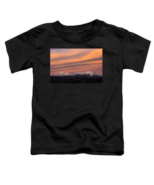 Sunset In Glacier National Park Toddler T-Shirt