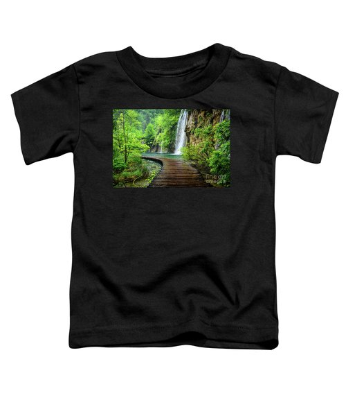 Walking Through Waterfalls - Plitvice Lakes National Park, Croatia Toddler T-Shirt