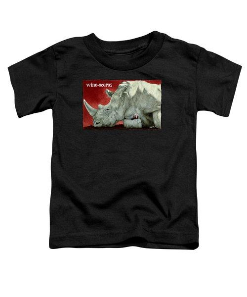 Wine-oceros Toddler T-Shirt by Will Bullas