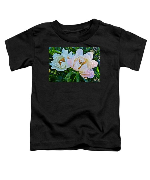 2015 Summer's Eve At The Garden White Peony Duo Toddler T-Shirt