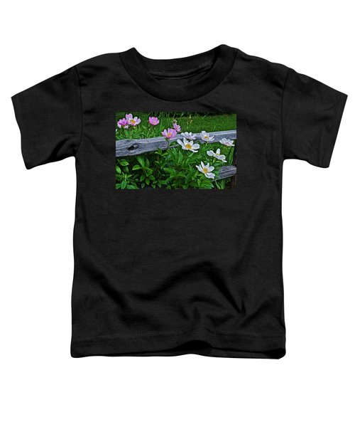 2015 Summer's Eve Neighborhood Garden Front Yard Peonies 2 Toddler T-Shirt