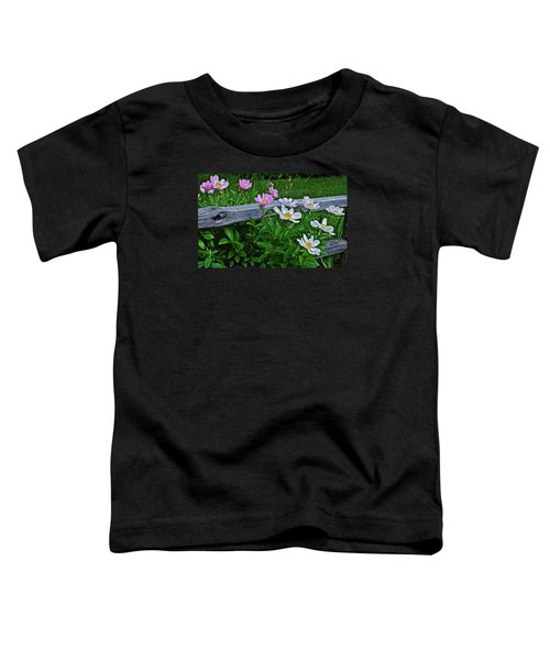 2015 Summer's Eve Neighborhood Garden Front Yard Peonies 2 Toddler T-Shirt