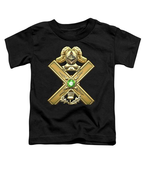 29th Degree Mason - Scottish Knight Of Saint Andrew Masonic Jewel  Toddler T-Shirt by Serge Averbukh