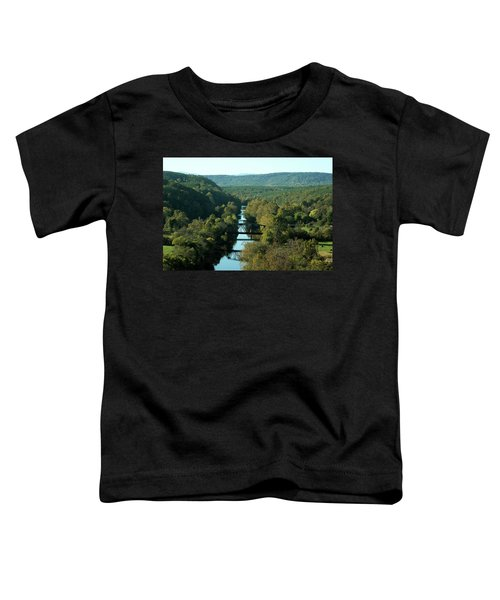Autumn Landscape With Tye River In Nelson County, Virginia Toddler T-Shirt